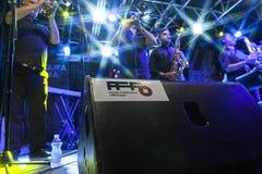 Live concert of fanfara tirana Stock Photography
