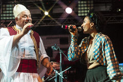 Live concert of fanfara tirana Stock Photo