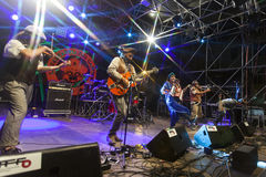 Live concert of fanfarria del capitan Royalty Free Stock Image