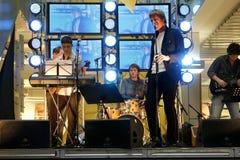 Live concert. Margus Vaher Band. Tartu, Estonia. M Royalty Free Stock Images