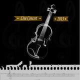 Live concert. Over black background vector illustration Royalty Free Stock Images