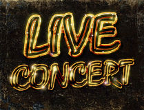 Live concert poster Royalty Free Stock Images