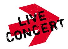 Live Concert rubber stamp Royalty Free Stock Photo