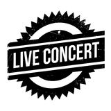Live Concert rubber stamp Stock Photos