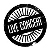 Live Concert rubber stamp Royalty Free Stock Images