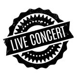 Live Concert rubber stamp Stock Photo