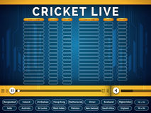 Live Cricket telecast video player window. Royalty Free Stock Image