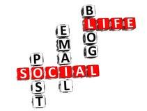 Live Crossword social Fotos de Stock