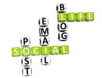 Live Crossword social Imagem de Stock Royalty Free
