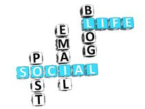 Live Crossword social Fotos de Stock Royalty Free