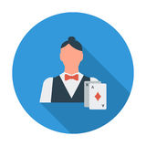Live dealer. Flat vector icon for mobile and web applications. Vector illustration stock illustration