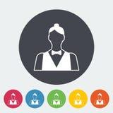 Live dealer. Single flat icon on the circle button. Vector illustration stock illustration