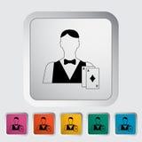 Live dealer Stock Image