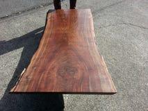 Live edge Oregon walnut coffee table Royalty Free Stock Photo