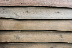 Live Edge Wooden Siding royalty-vrije stock foto's