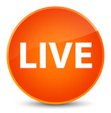 Live elegant orange round button Royalty Free Stock Photo
