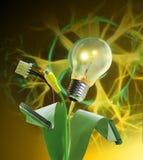 live elektricitetsenergi Arkivfoton