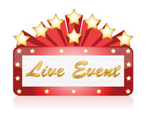 Live event red Star Neon theater sign vector illustration
