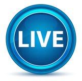 Live Eyeball Blue Round Button ilustração royalty free