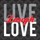 live förälskelse för skratt Royaltyfri Fotografi