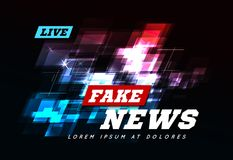 Live Fake News Can be used as design for television news or Internet media. Vector Stock Photography