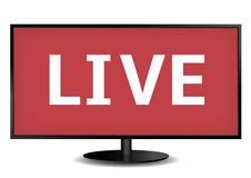 Live-Fernsehen Lizenzfreie Stockfotografie