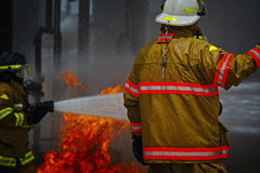 Live Fire Training Project à l'école du feu photos libres de droits