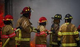 Live Fire Training Project an der Feuerschule Lizenzfreie Stockbilder