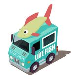 Live fish machine icon, isometric style. Live fish machine icon. Isometric illustration of live fish machine vector icon for web Stock Photo