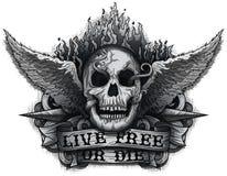 Live Free eller dör stock illustrationer