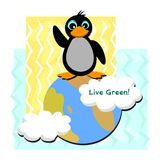 Live Green Penguin Royalty Free Stock Photos