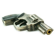 Live gun isolated. On a white background Royalty Free Stock Image