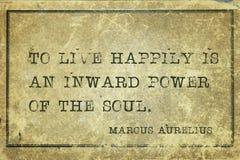 Live happily MAurelius Royalty Free Stock Image