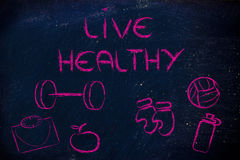 Live a healthy and fit life Stock Photography