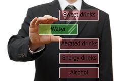 Live healthy life, drink water Royalty Free Stock Photos