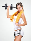 Live a healthy lifestyle!  Be muscular body Stock Photos
