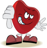 Live heart with face, arms and feet Stock Image
