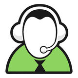 Live Help. Customer service icon with black outlines Stock Images