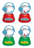 Live Help Offline Online_eps Royalty Free Stock Image