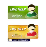 Live help signs. Customer support/ live help signs isolated over white Royalty Free Illustration
