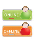 Live help signs. (Customer support symbols for web
