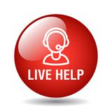 Live help support stock illustration