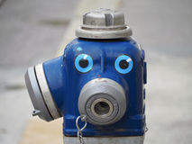 Live hydrant. Close up on hydrant decorated with eyes Royalty Free Stock Photos