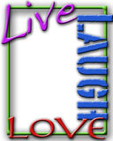 Live Laugh Love frame Royalty Free Stock Photo