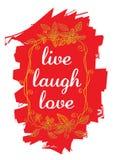 Live Laugh Love Stock Photo