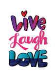 Live Laugh Love Royalty Free Stock Photo