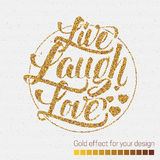 Live laugh love Hand lettering quote Stock Photography
