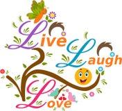 Live Laugh Love illustration Arkivfoton