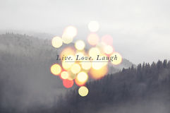 Live laugh love Royalty Free Stock Photography
