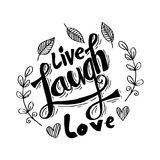 Live Laugh Love Royalty Free Stock Photos